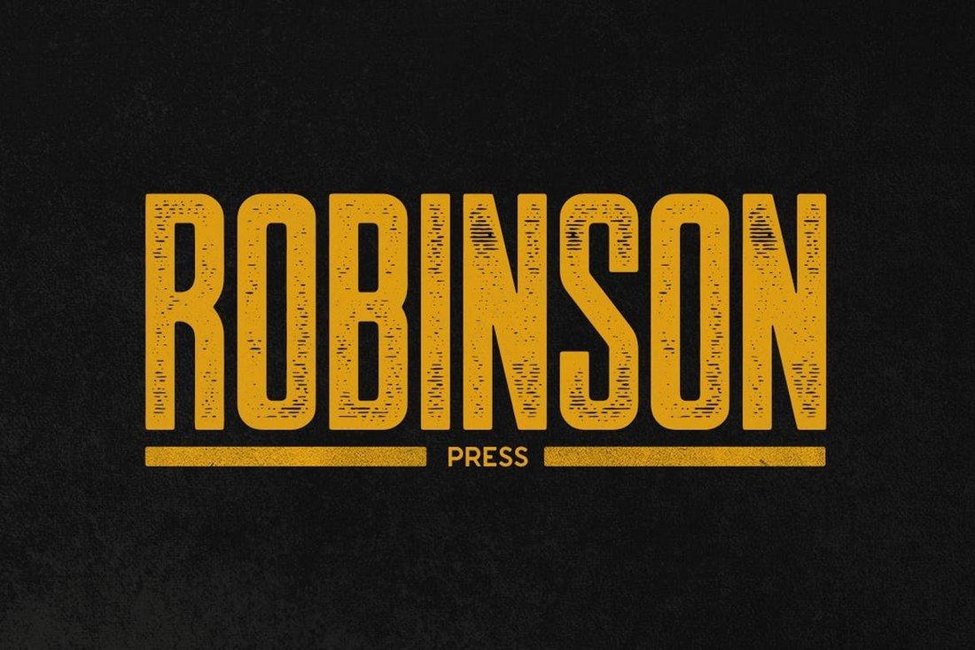 Robinson Press narrow font