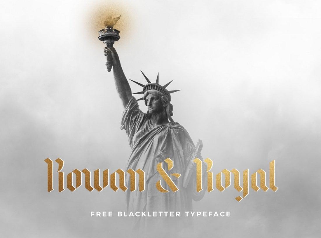 Rowan & Royal - Free Gothic Typeface