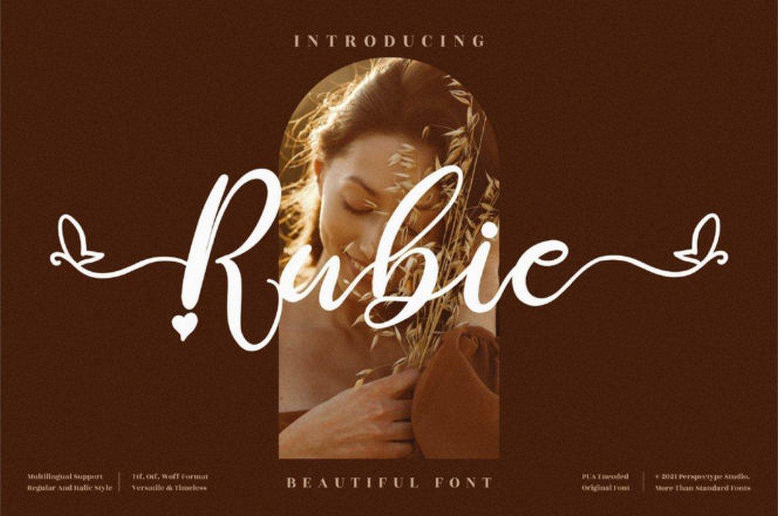 Rubie - Trendy Free Script Font