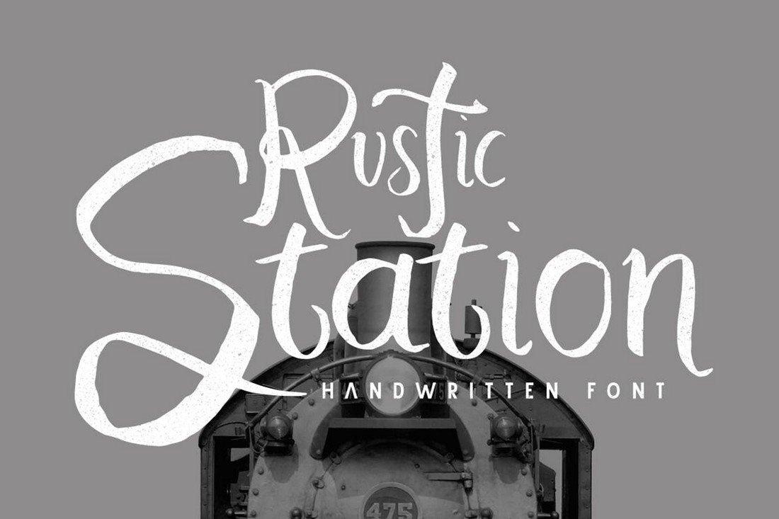 Rustic Station - Rustic Cursive Font