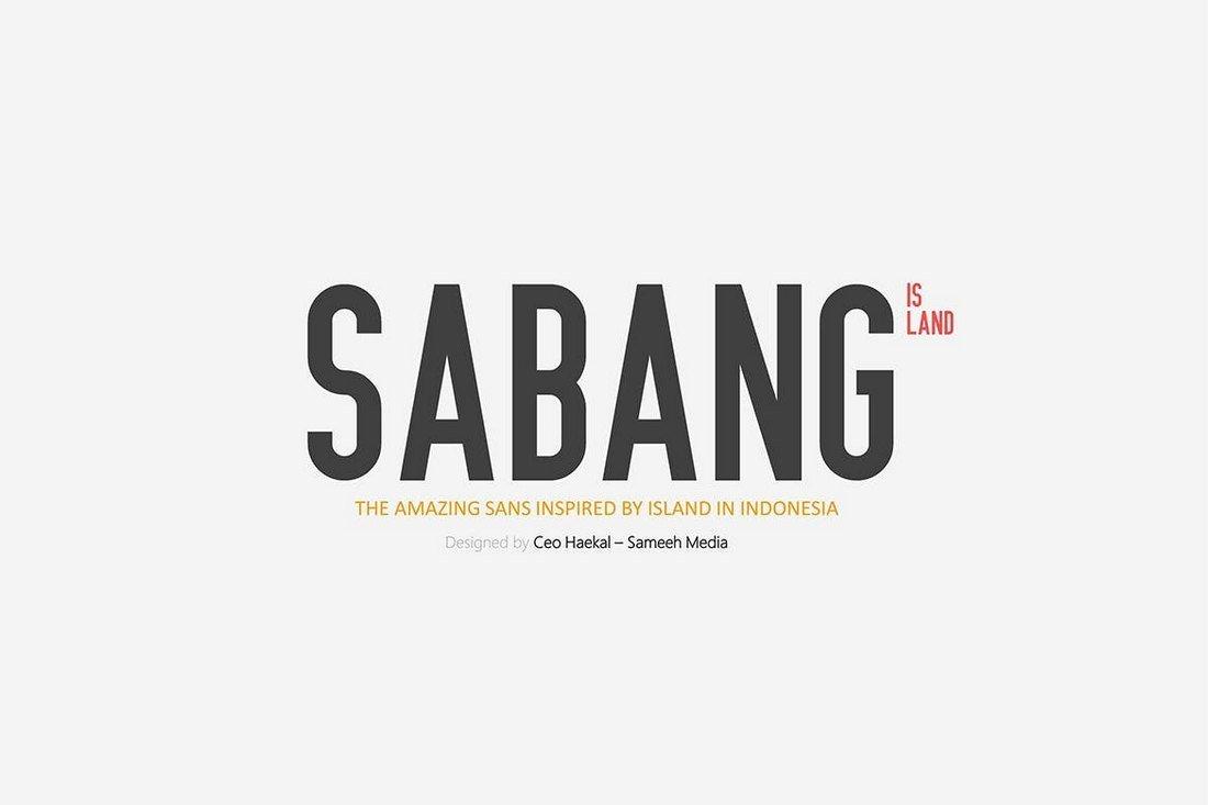 Sabang Island - Condensed Font