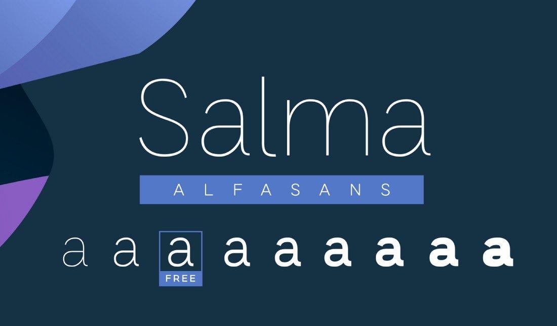 Salma - Free Sans-Serif Font