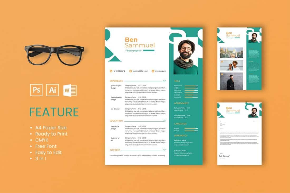 Sam - Professional CV And Resume Template