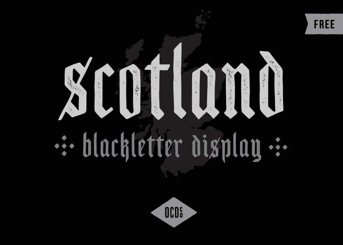 Scotland - Free Vintage Blackletter Font