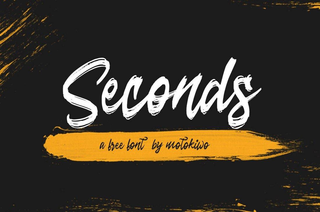Seconds - Free Rough Brush Script Font