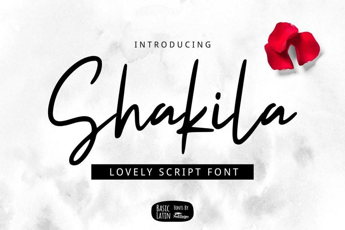 Shakila Script - Modern Font