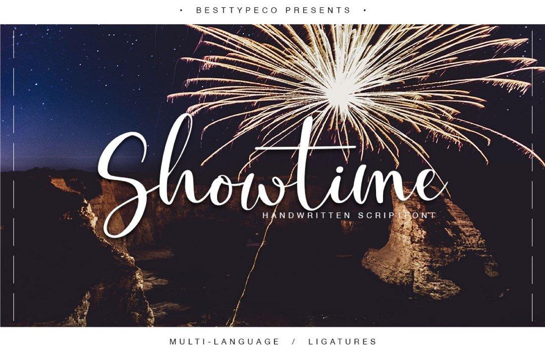 Showtime free handwriting font