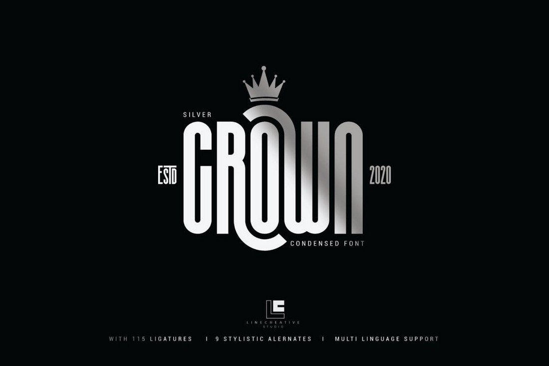 Silver Crown - Elegant Condensed Font