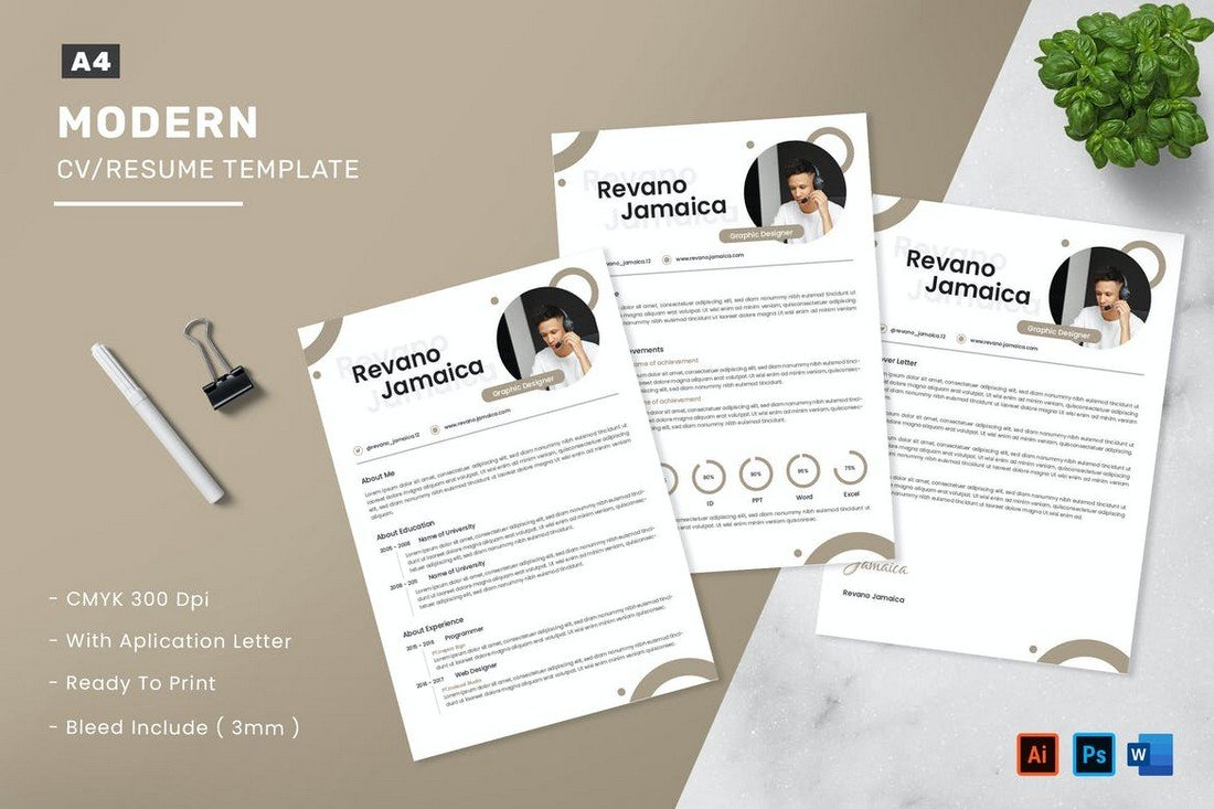Simple Resume & Cover Letter Templates