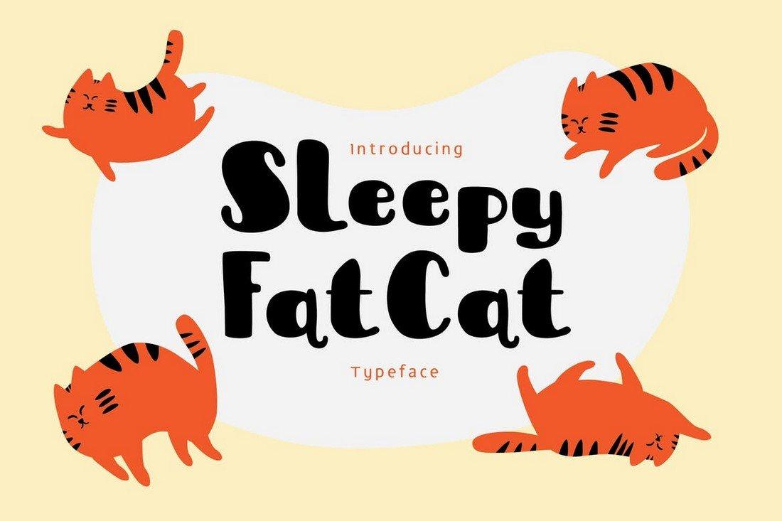 Sleepy Fat Cat - Thick Font