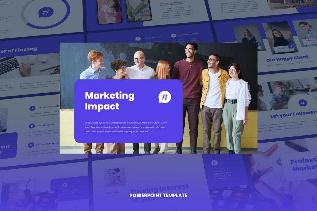 Socia - Digital Marketing Pitch Deck Powerpoint Template