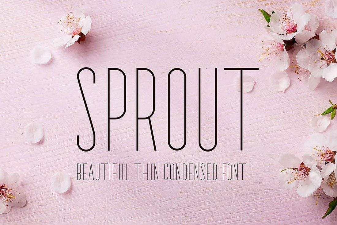 Sprout - Narrow Sans Serif Font
