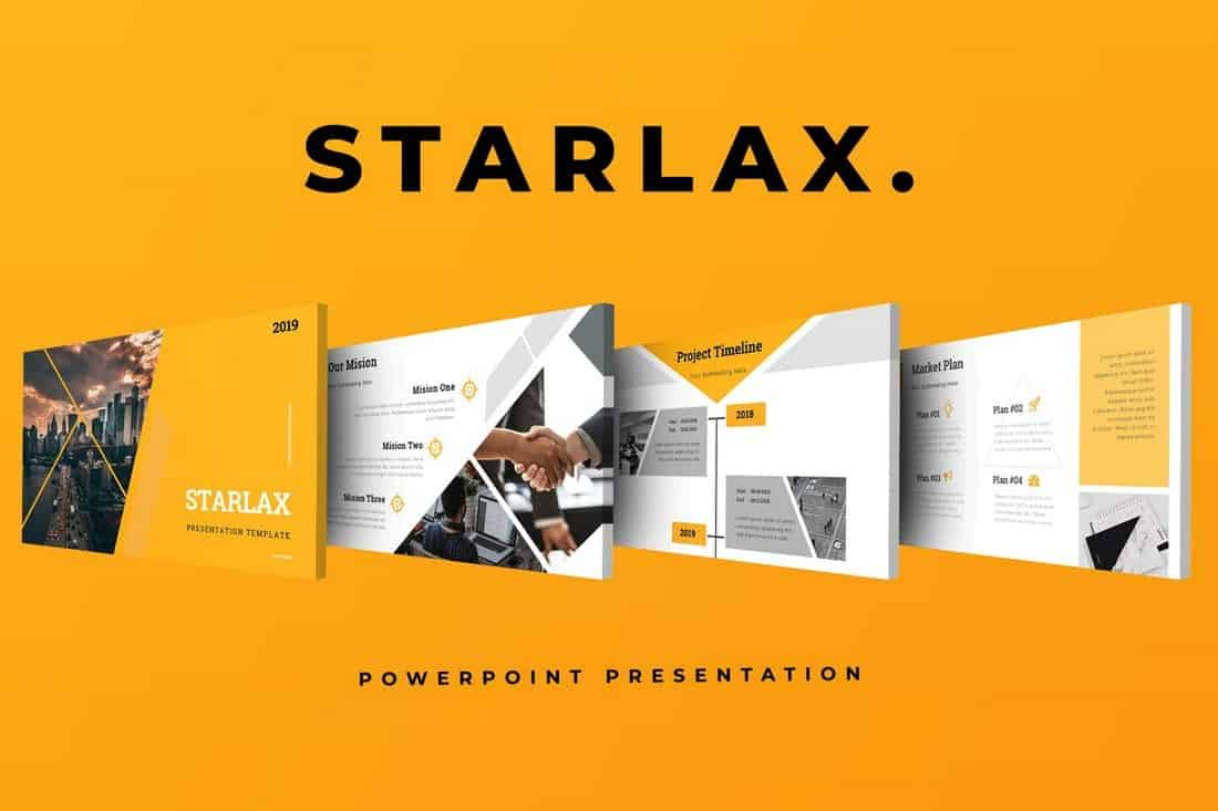 Starlax - Startup Pitch Deck Template For PowerPoint