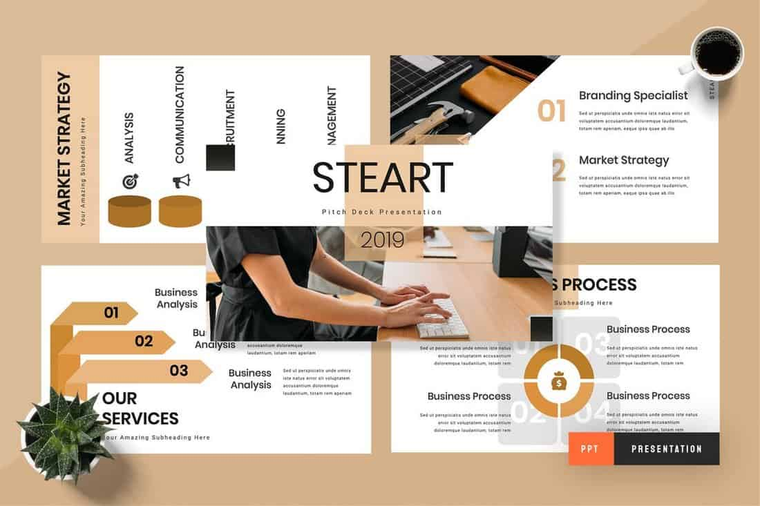 Steart - Pitch Deck Powerpoint Presentation