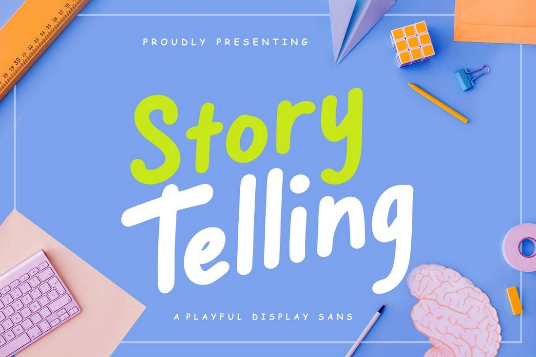 Story Telling - Fun Condensed Font