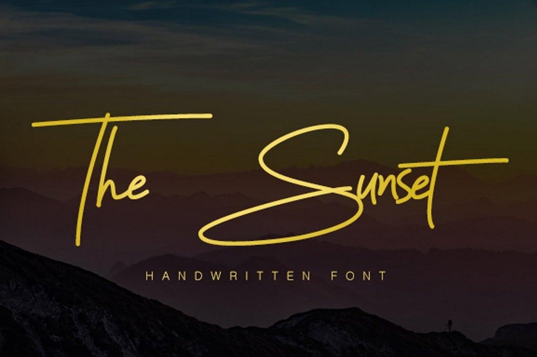Sunset Signature Font