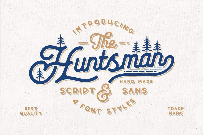 The Huntsman - Vintage Script Font