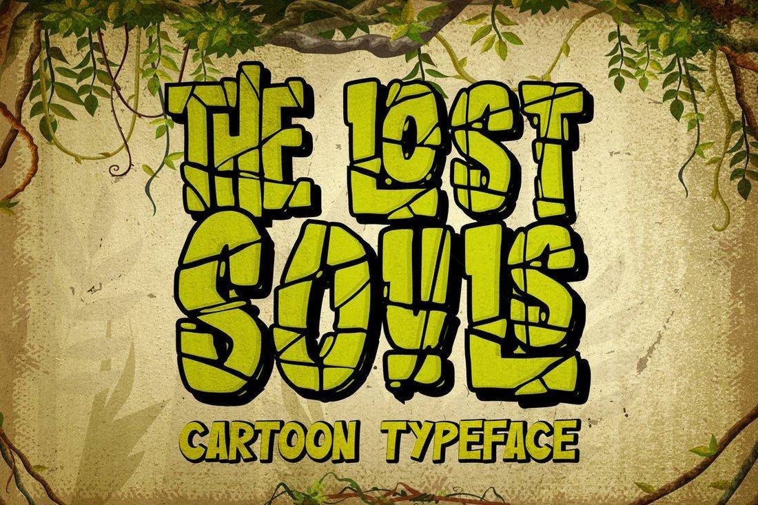 The lost Souls - Cartoon Display Font