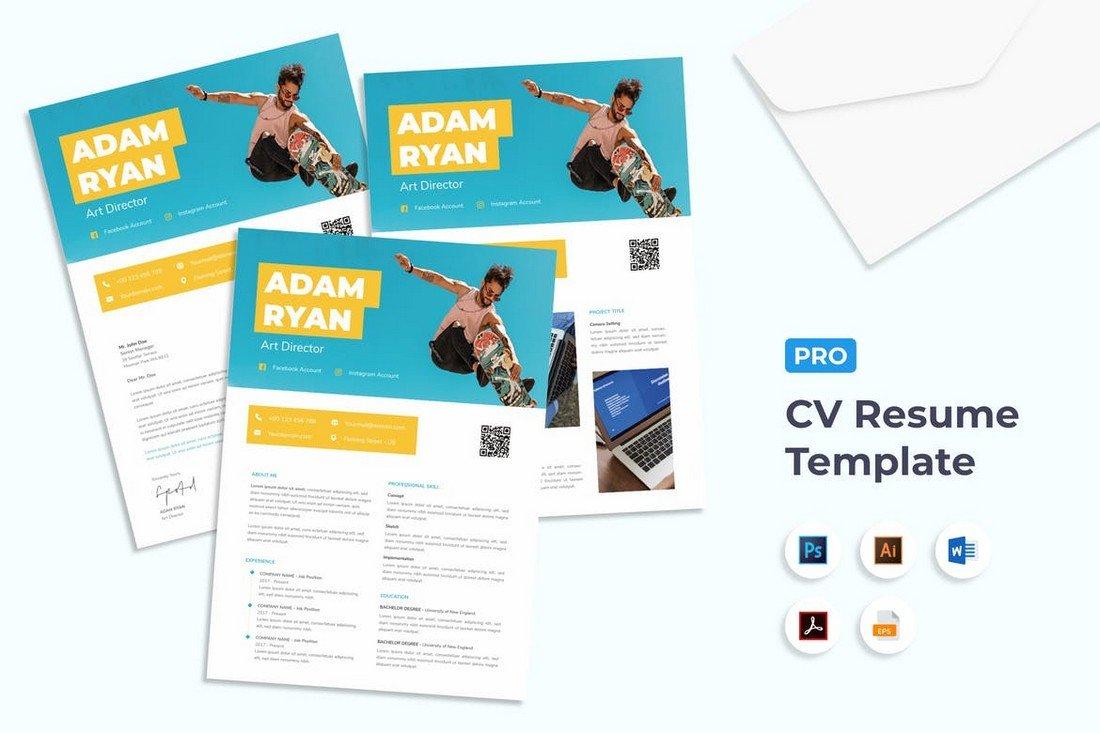 Trendy CV Resume Template