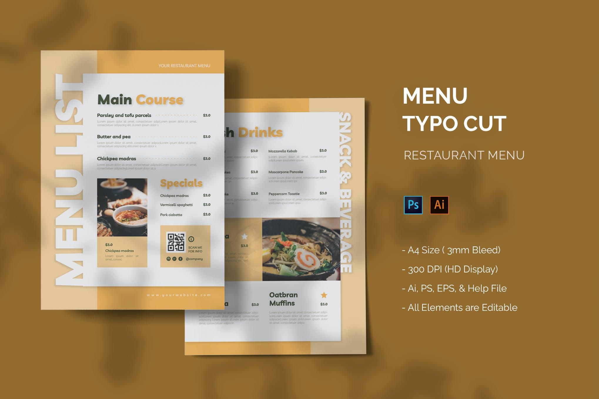 Typo Cut - Restaurant Menu