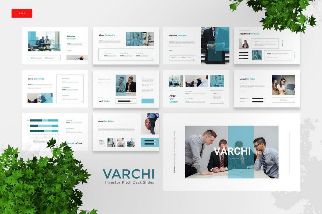 Varchi - Investor Pitch Deck Powerpoint Template
