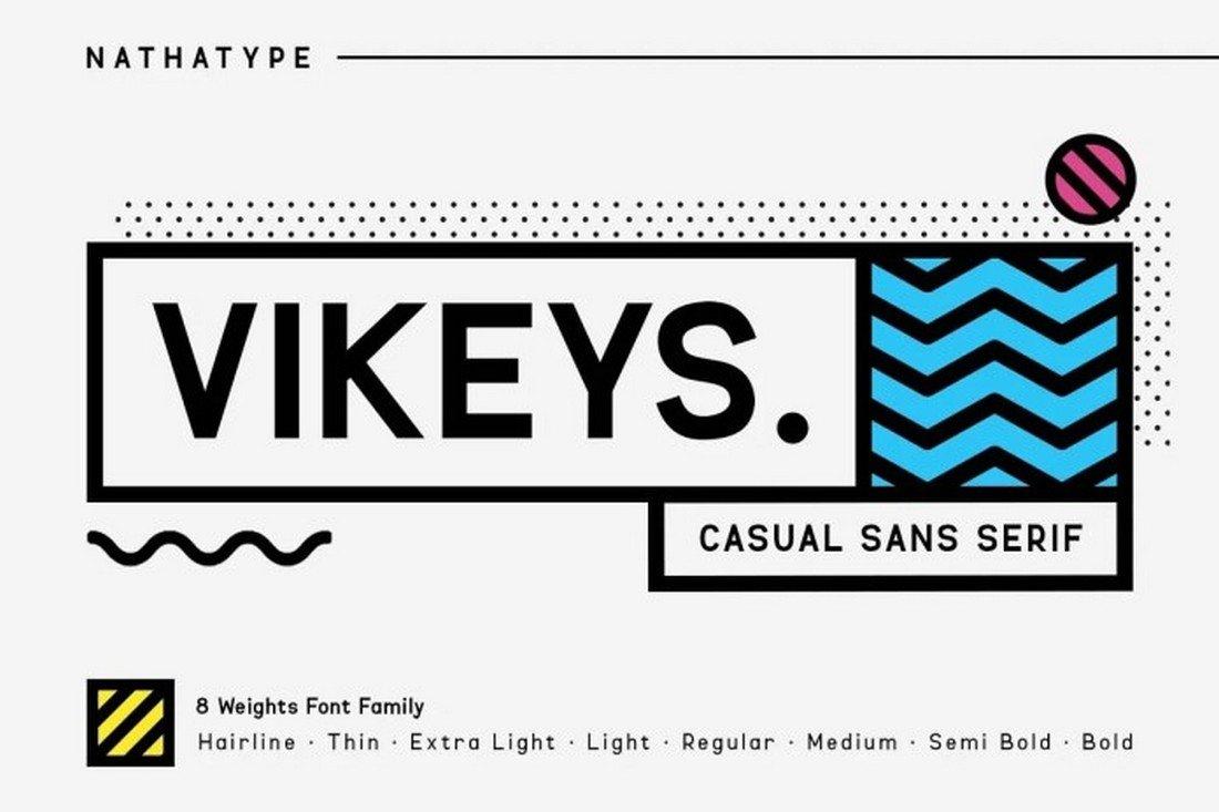 Vikeys - Creative Sans-Serif Font