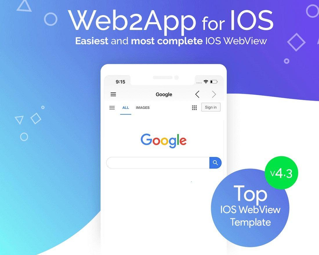Web2App - iOS Web App Template