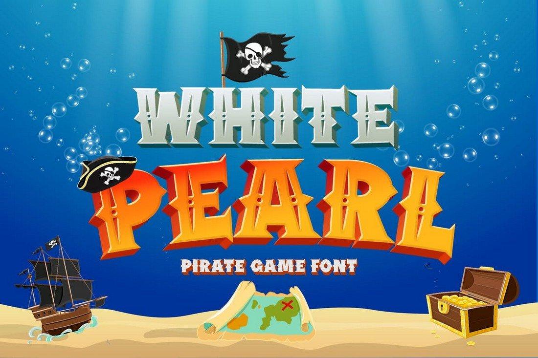 White Pearl - Pirate Cartoon font