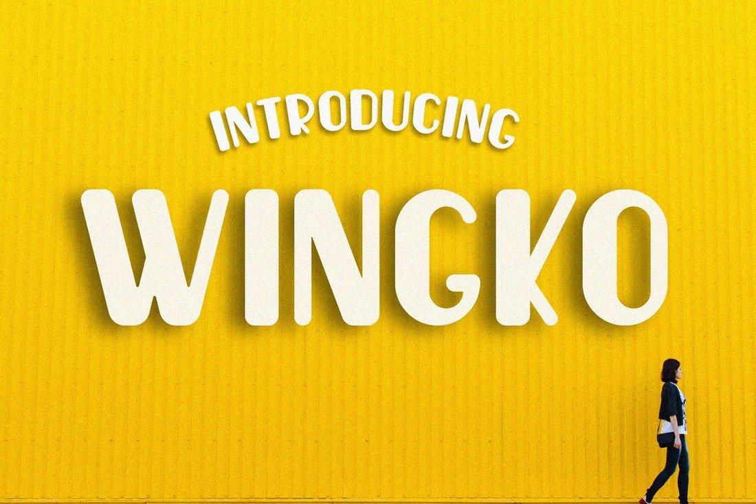 Wingko - Free Creative Script Font