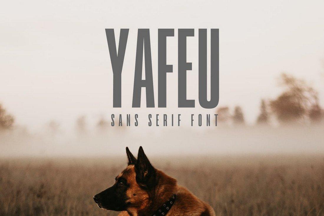 Yafeu - Narrow Font