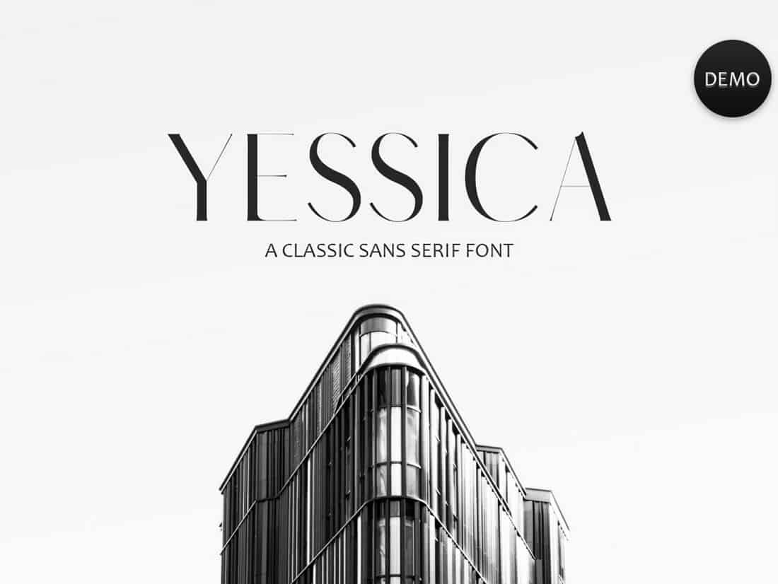 Yessica - Free Sans Serif Font