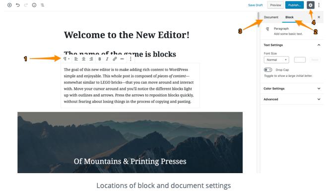 Add wordpress block with columns