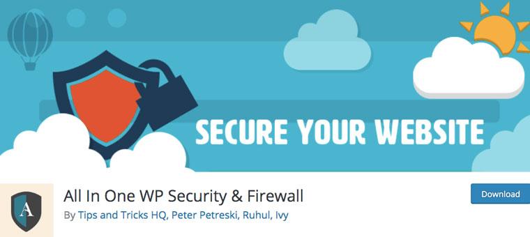 WordPress plugin All In One WP Security & Firewall.