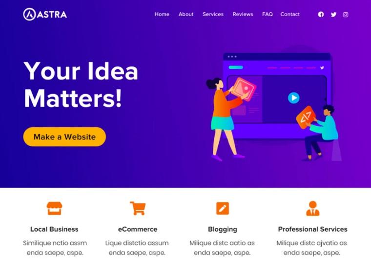 Astra - Free WordPress Theme.