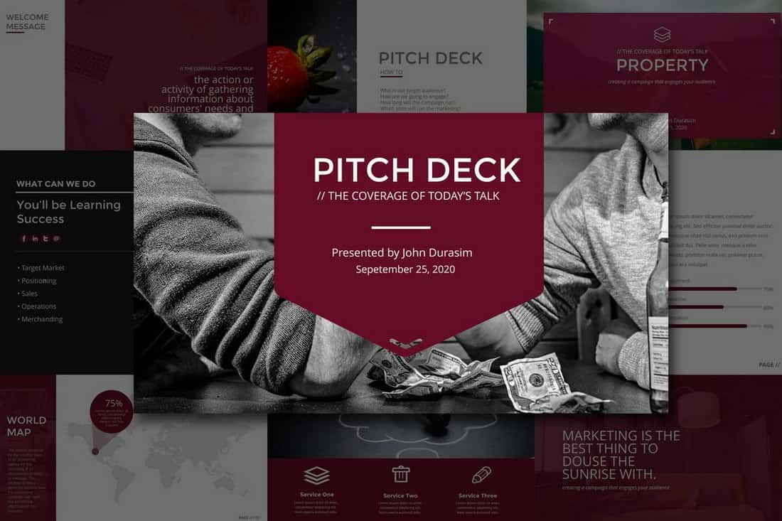 business-Startup Pitch Deck Template For PowerPoint