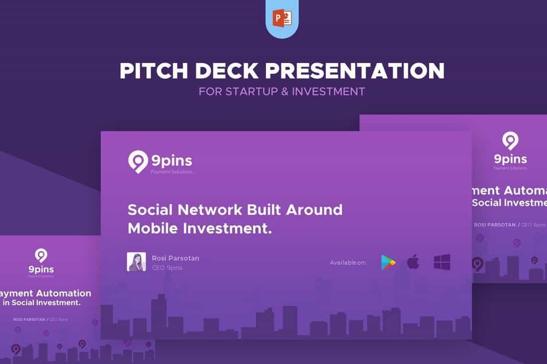 fintech-Startup Pitch Deck Template For PowerPoint