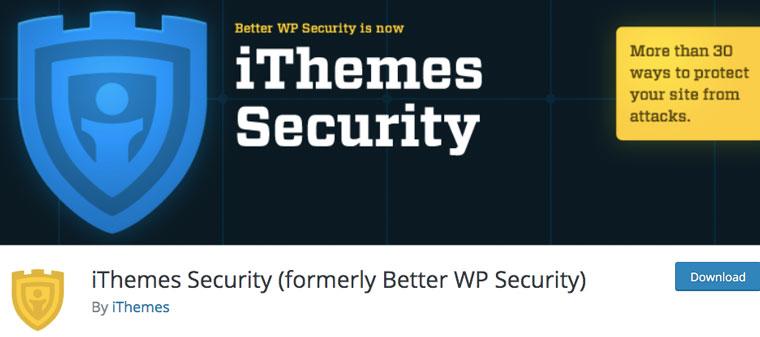 Wordpress plugin iThemes Security.