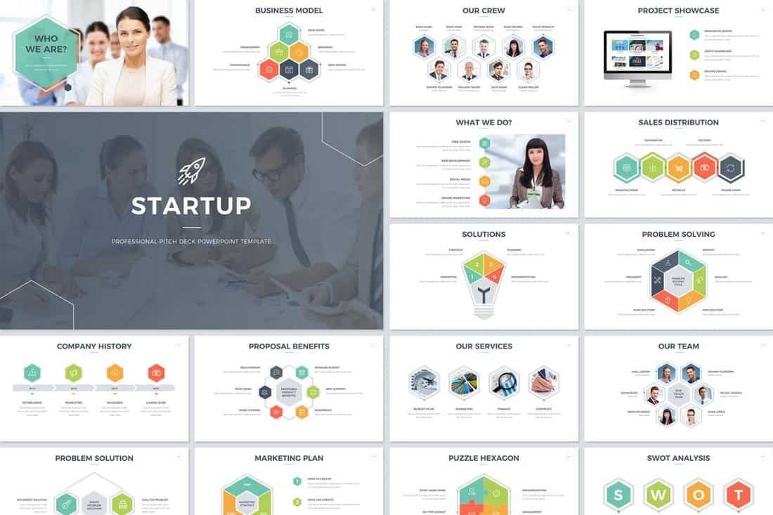 minimal-Startup Pitch Deck Template For PowerPoint