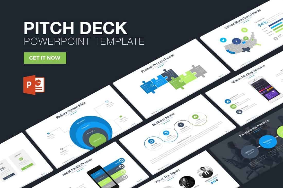 modern-Startup Pitch Deck Template For PowerPoint