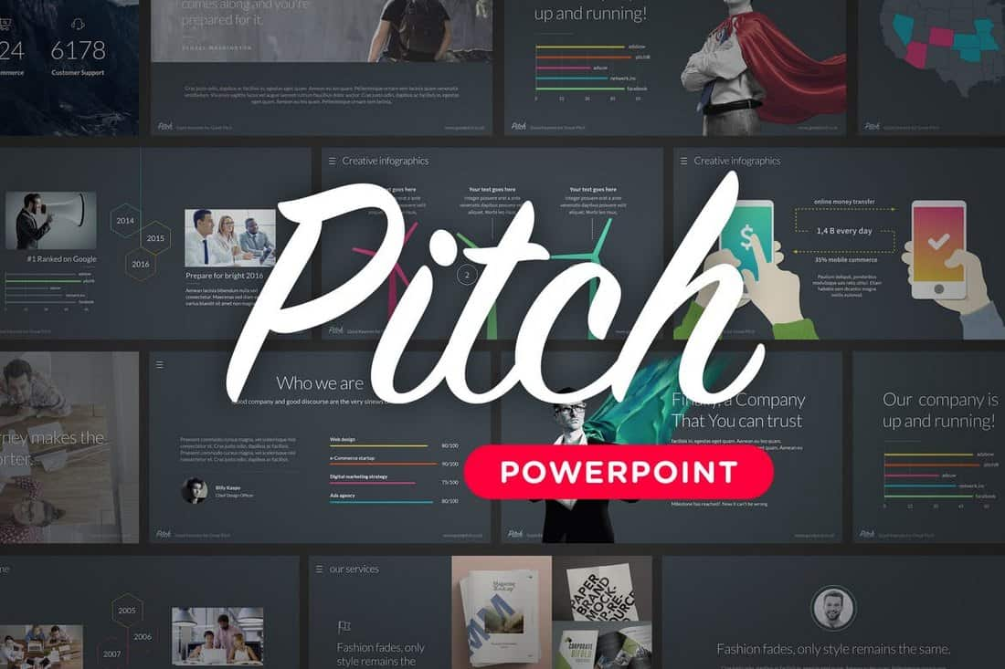 pitch-Startup Pitch Deck Template For PowerPoint