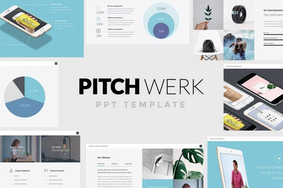pitch werk-Startup Pitch Deck Template For PowerPoint