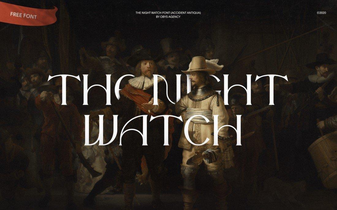 the night watch free font