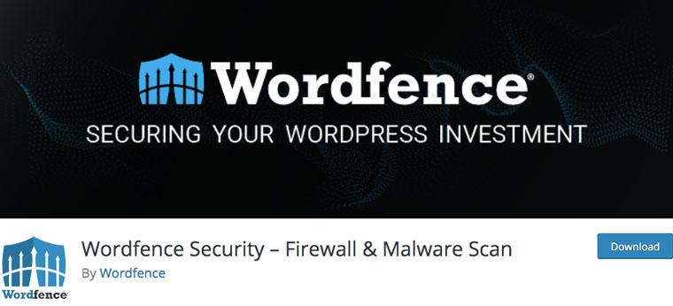 Wordpress plugin Wordfence Security.