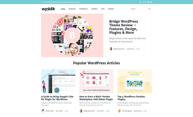 WPKlik homepage